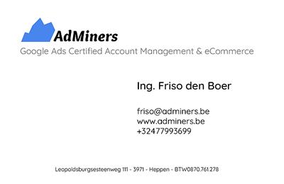 AdMiners Contactinformatie | Businesscard